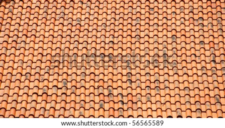 Tile roof - stock photo