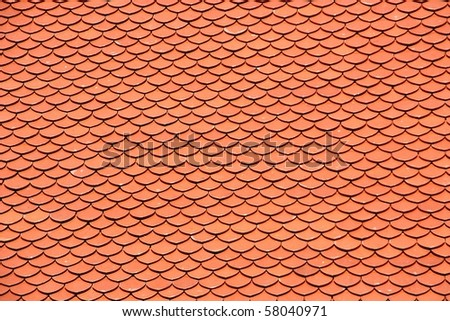 Tile roof. - stock photo