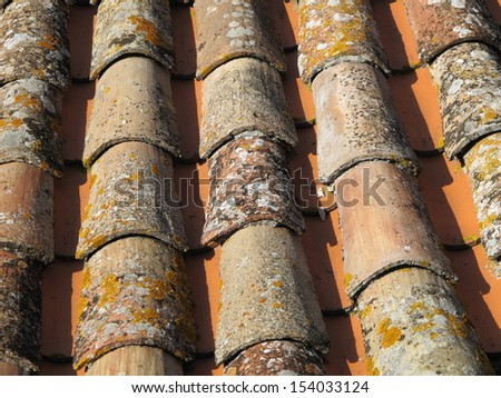 Tile roof background - stock photo