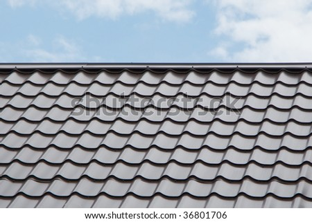 Tile roof house structure building home exterior - stock photo
