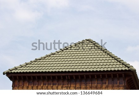 tile roof is beautiful in sky