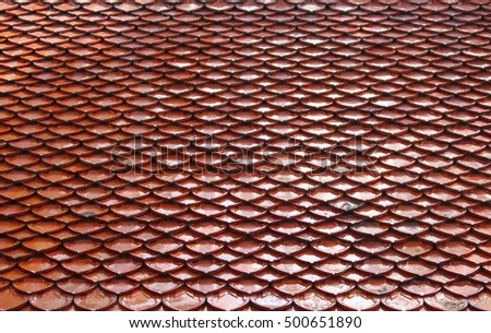 tile roof Thailand style textur ancient beautiful
