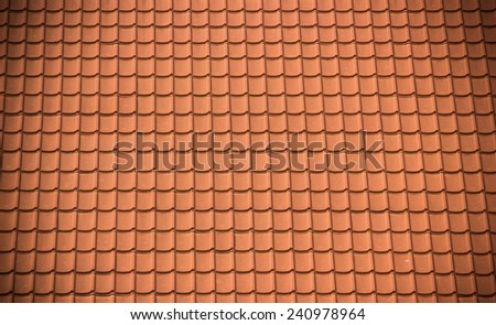 Tile-roofed house.architecture, attic, background, - stock photo