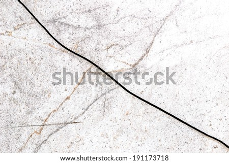 Tile surface is a crack - stock photo