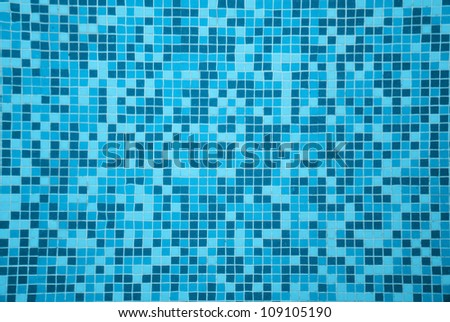 tile texture background of  swimming pool tiles - stock photo