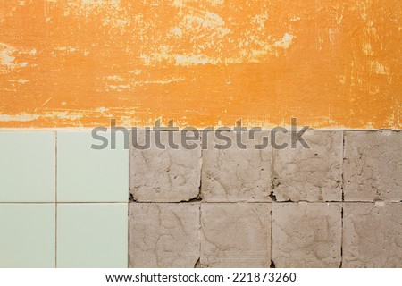 tile wall - stock photo