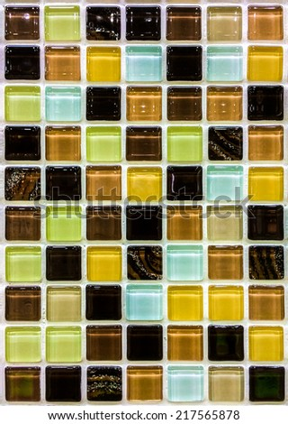 Tile wall background and texture - stock photo