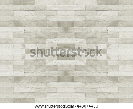 Tiled brick wall in light sepia beige cream white tone texture background for interiors design home, house, building, shop, store, art, coffee shop, popular brick wall.Brick wall tile texture. office - stock photo