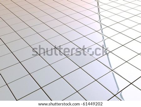 Tiled floor abstract grid