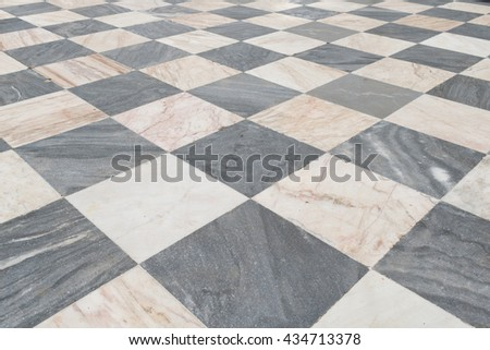 Tiled floor.  Abstract point of view of  decorative tiled floor