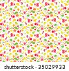 Tiled pattern of fruits. Raster. Autumn is near! - stock photo