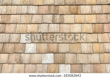 Tiled roof  stone block background