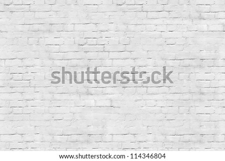 Tiled white brick wall - stock photo