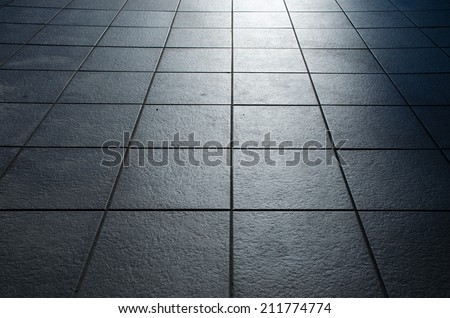 Tiles and backlight - stock photo