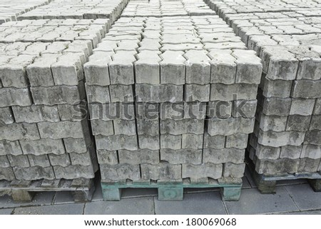 Tiles in pallet construction, architecture
