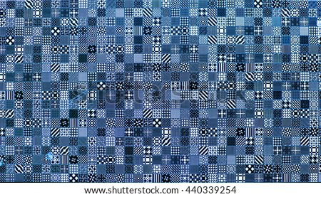 tiles, mosaic tiles for bathroom and pool - stock photo