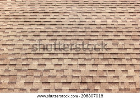 Tiles roof pattern and texture for background - stock photo