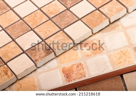 Tiles small squares - stock photo