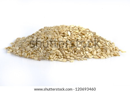 Till/Sesame Seeds on white