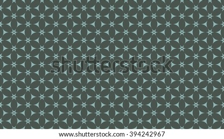 Timber green seamless floral pattern