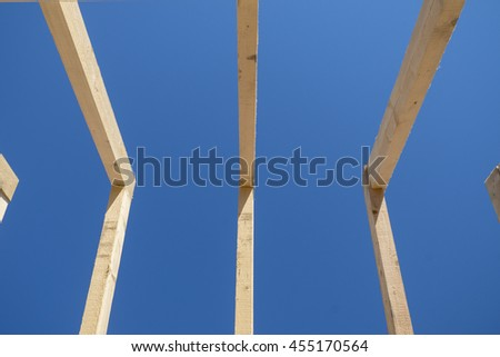 timber rooftop clear sky