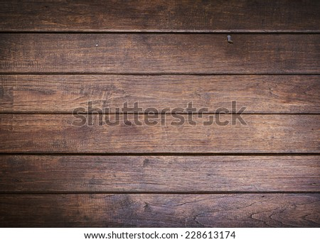 timber wood brown wall plank vintage background - stock photo