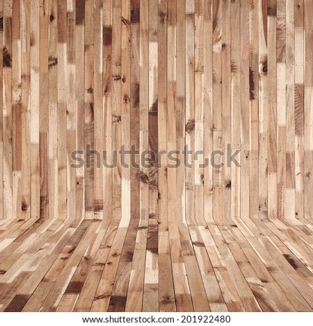 timber wood wall Industrial background - stock photo