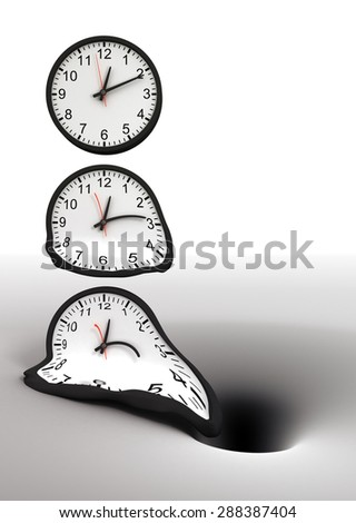 Time and black hole - stock photo