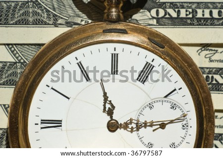 Time and Money concept image.Shallow DOF - stock photo