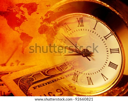 Time and money. Finance concept. - stock photo