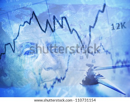 Time and money. World finance system concept. - stock photo