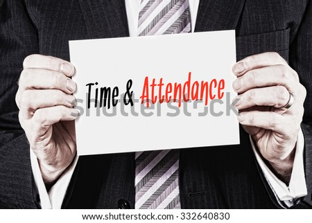 Time & Attendance, Induction Training headlines concept. - stock photo