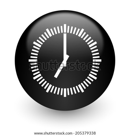 time black glossy internet icon