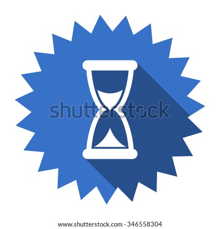 time blue flat icon