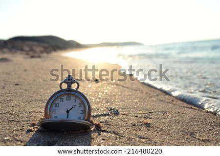 time clock photo - stock photo