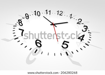Time. Concept clock on white background - stock photo