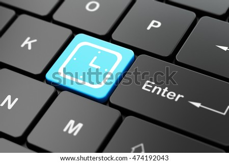 Time concept: computer keyboard with Watch icon on enter button background, 3D rendering