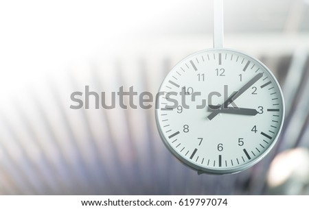 Time, concept picture with space for text