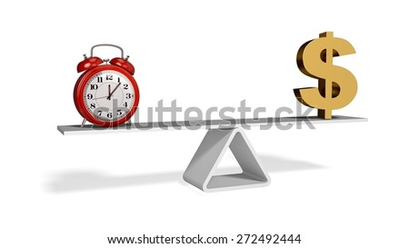 Time. 3D. Time is Money - stock photo
