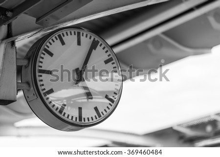 time fast five hours now clock - stock photo