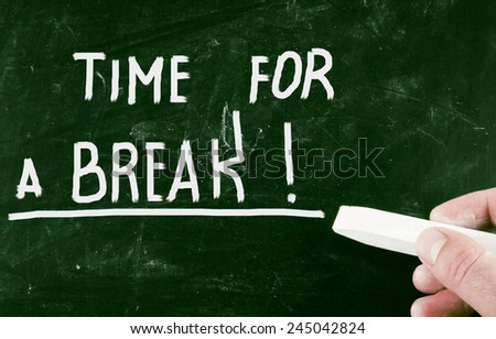 time for a break! - stock photo