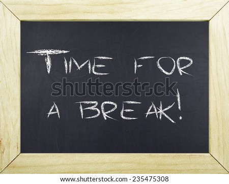 Time for a break / Overworked Overload Needs a Break Concept - stock photo