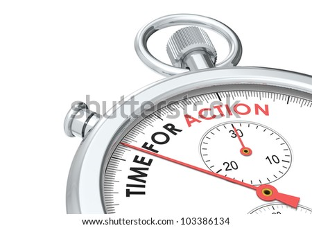 Time for Action. Stopwatch Edition. - stock photo