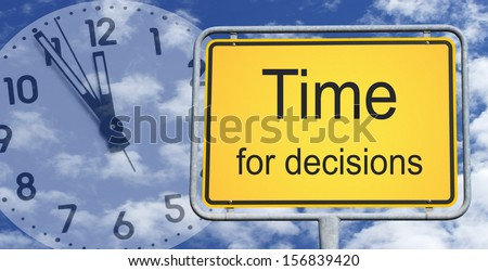 Time for decisions - stock photo