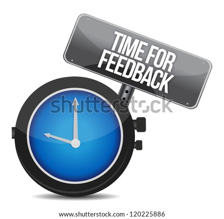 time for feedback illustration design over white