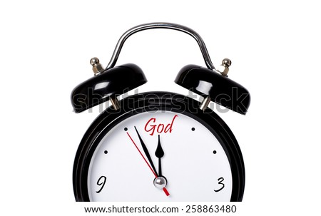 Time for God concept - stock photo