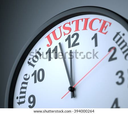 Time for Justice , 3d render - stock photo