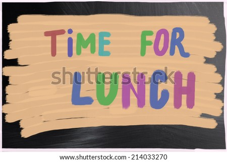 time for lunch - stock photo