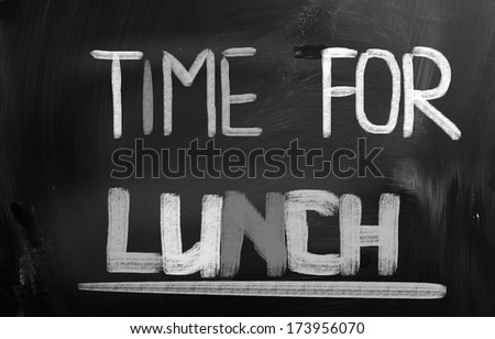 Time For Lunch Concept - stock photo