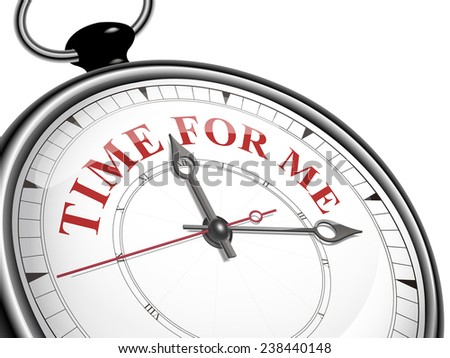 time for me concept clock isolated on white background - stock photo